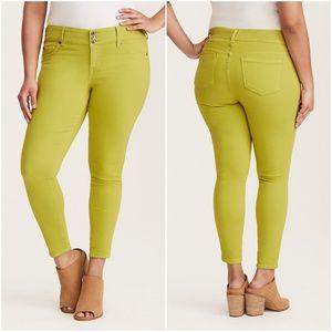 Torrid Skinny Jeans Neon Green Jeggings High Rise